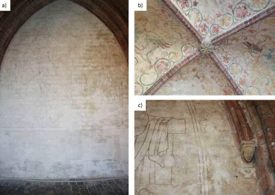 Yellowish Gypsum Efflorescences on Wall Paintings from the 14th Century in the Cathedral of Schleswig in Northern Germany