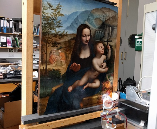 YARNWINDER: Investigating the making of the Virgin of the Yarnwinder by Leonardo da Vinci