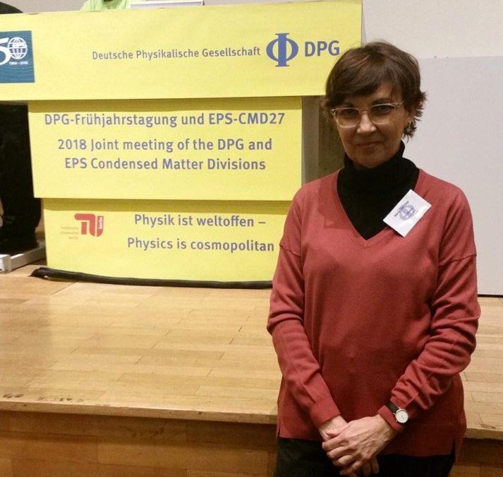 "Marta Castillejo at the Symposium ""Physics of Ancient Materials"""