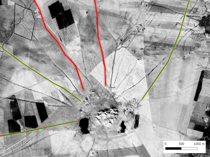 GeoMOP: Revealing Bronze Age traffic along roads in Upper Mesopotamia – Satellite imagery and modelling to observe landscape changes