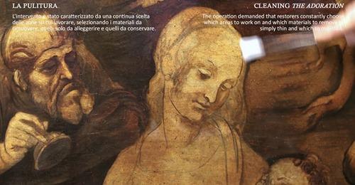 The restoration of Leonardo Da Vinci's Adoration of the Magi:  unveiling features and secrets