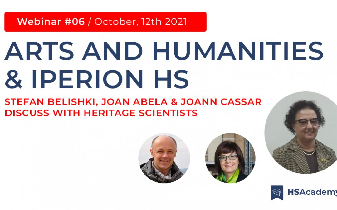 """The new Iperion HS Academy webinar """"Arts and Humanities and IPERION HS"""" is coming – Online on October 12, 2021"""