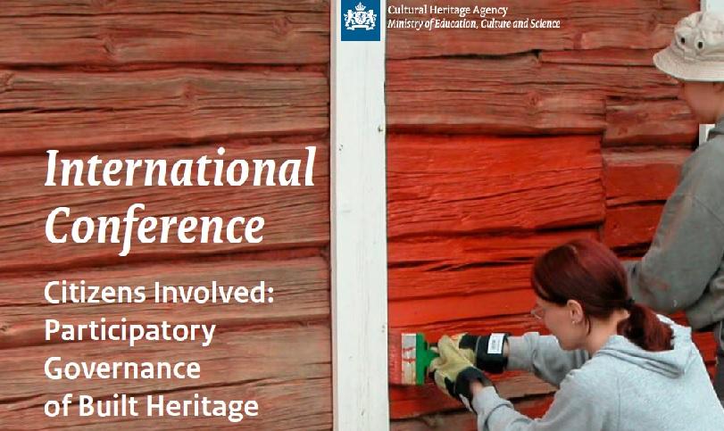 International Conference on Participatory Governance of Built Cultural Heritage – 3-4 October 2018 – Amersfoort, the Netherlands