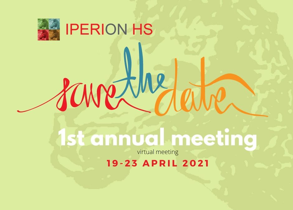 Save the date – Iperion HS 1st annual virtual meeting – April 19-23, 2021