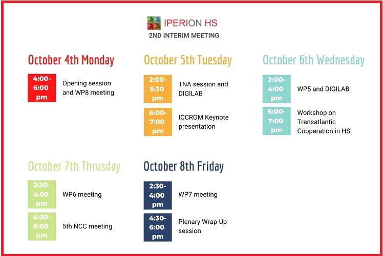 IPERION HS 2nd virtual interim meeting – 4 – 8 October 2021